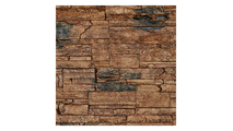 """9""""W Cascade Stacked Faux Stone Siding Panel Canyon Brown"""
