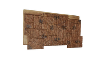 """48""""W Castle Rock Stacked Faux Stone Siding Panel Canyon Brown"""