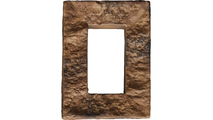 Universal Electrical Cover for Faux Stone Siding Panels Canyon Brown