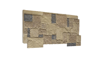 """48""""W Castle Rock Stacked Faux Stone Siding Panel Colfax"""
