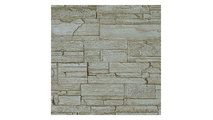 """9""""W Cascade Stacked Faux Stone Siding Panel Sandstone"""