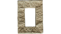 Universal Electrical Cover for StoneWall Faux Stone Siding Panel Sandstone