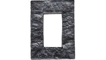 Universal Electrical Cover for StoneWall Faux Stone Siding Panel Slate Gray