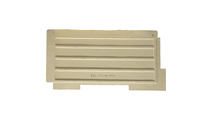 """48""""W Castle Rock Stacked Faux Stone Siding Panel Back"""