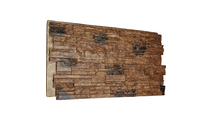 """48""""W Cascade Stacked StoneWall Faux Stone Siding Panel Canyon Brown"""