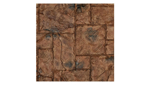 """9""""W Castle Rock Stacked Faux Stone Siding Panel Canyon Brown"""