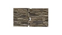 """48""""W Cascade Stacked StoneFaux Siding Panel Connect Together"""