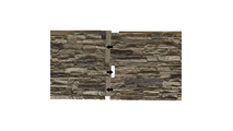 """48""""W Canyon Ridge Stacked Faux Stone Siding Panel Connect Together"""
