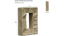 Universal Electrical Cover for StoneWall Faux Stone Siding Panel Dimensions