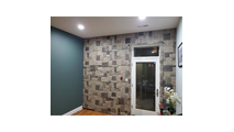 """48""""W Castle Rock Stacked Faux Stone Siding Panel Sample1"""