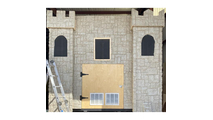 """48""""W Castle Rock Stacked Faux Stone Siding Panel Sample3"""
