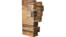 """12""""W Board Side & 11""""W Finger Side Dry Stack Faux Stone Outer Corner Siding Panel Arizona Gold"""