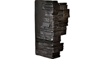 """12""""W Board Side & 11""""W Finger Side Dry Stack Faux Stone Outer Corner Siding Panel Graphite"""