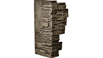 """12""""W Board Side & 11""""W Finger Side Dry Stack Faux Stone Outer Corner Siding Panel Grey"""