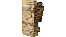 """12""""W Board Side & 11""""W Finger Side Dry Stack Faux Stone Outer Corner Siding Panel Saturn"""
