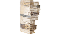 """12""""W Board Side & 11""""W Finger Side Dry Stack Faux Stone Outer Corner Siding Panel Sonora Desert"""