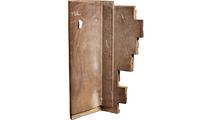 """12""""W Board Side & 11""""W Finger Side Dry Stack Faux Stone Outer Corner Siding Panel Back"""