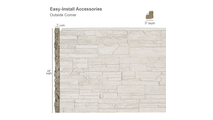 Universal Outside Corner for Faux Stone Siding Panel Dimensions