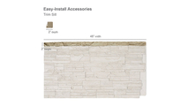 Universal Trim Sill for StoneWall Faux Stone Siding Panel Dimensions