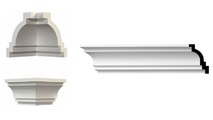 """Traditional Smooth Crown Moulding System -94-1/2"""" Long"""