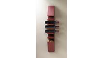 Sleek Wooden Wine Wall Rack
