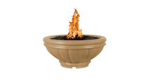 Ronda fire bowl shown in brown