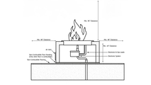 48 Inch Sedona Concrete Gas Fire Pit - Wide Ledge powder coat fire pit installation diagram