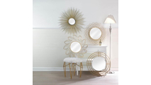Modern Gold Wall Mirror