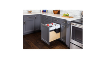 Pre-Assembled 35 Quart Double Pullout Waste Container System