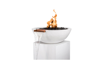 """33"""" Sevilla Fire and Water Bowl in limestone"""