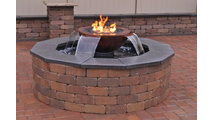Customer installed Evolution 360° Scupper Fire and Water Fountain