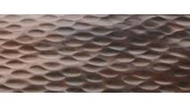 Scupper bowl hammered copper finish