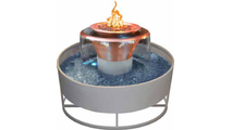Olympian 360° Copper Fire & Water Bowl Self Contained 30 Inch