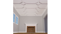 """5"""" Traditional Inner Diamond Intersection Coffered Ceiling System"""