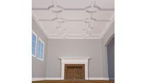 """5"""" Traditional Inner Circle Intersection Coffered Ceiling System"""