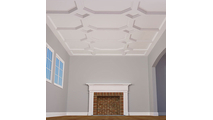"""8"""" Traditional Inner Diamond Intersection Coffered Ceiling System"""