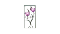 Two Candle Magenta Flower Wall Sconce