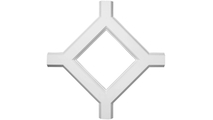 """Inner Diamond Intersection for 5"""" Traditional Coffered Ceiling System"""