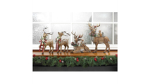 Rustic Holiday Doe Reindeer Figurine