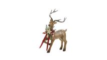 Rustic Holiday Reindeer Figurine