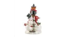 Light Post Snowman Figurine