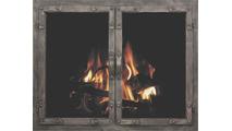 Old World Masonry Fireplace Door in Burnished Bronze premium finish