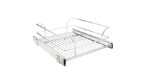 """14-3/8"""" Polished Chrome Pullout Basket for 15"""" Cabinet Opening"""