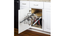 Cookware Lid Organizer Pullout