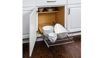 """17-3/8"""" Polished Chrome Pullout Basket for 18"""" Cabinet Opening"""