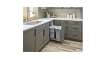 Storage With Style Polished Chrome Trashcan Pullout with Soft-close Slides