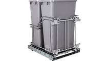50 Quart Storage With Style Double Trashcan Polished Chrome