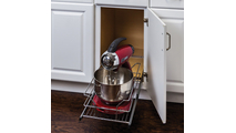 """11-3/8"""" Polished Chrome Pullout Basket for 12"""" Cabinet Opening"""