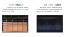 Infrared Heat and Blue Flame Heat Vent Free