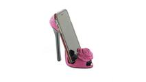 Pink Rose Shoe Phone Holder
